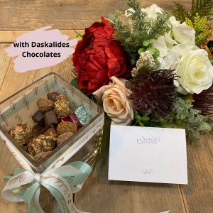 Mixed Flowers with Daskalides Chocolates